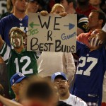 Even Jets and Giants fans can get along.