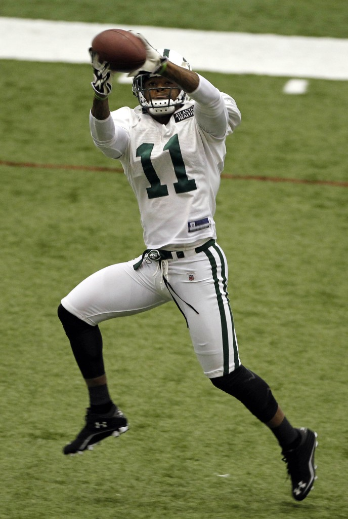 Jeremy Kerley during the New York Jets football practice
