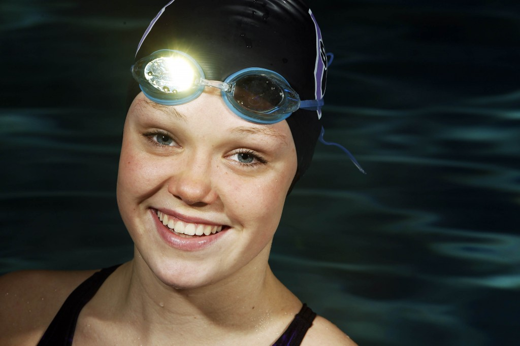 Old Bridge High School swimmer Courtney Foley
