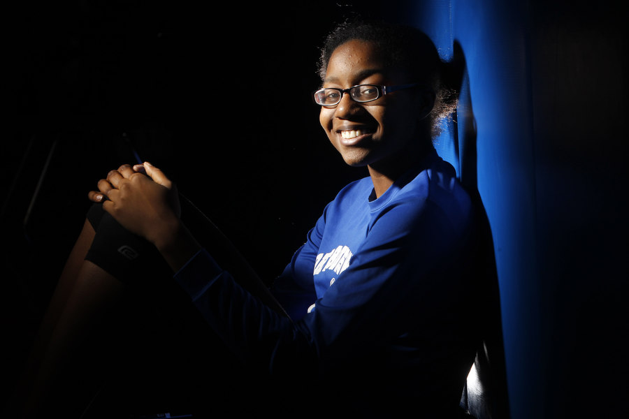 North Brunswick high school athlete Nnenna Ibe at the school in North Brunswick.