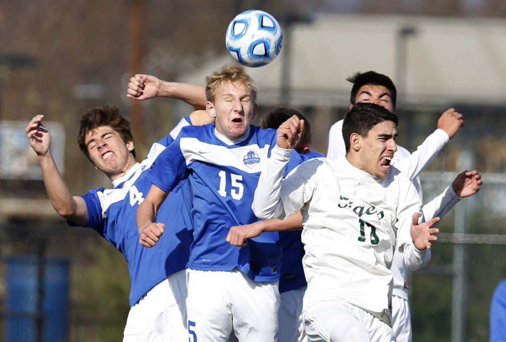 During the South Plainfield High School boys soccer game against Princeton High School NJSIAA Group 4 Championship played at Kean University in Union.