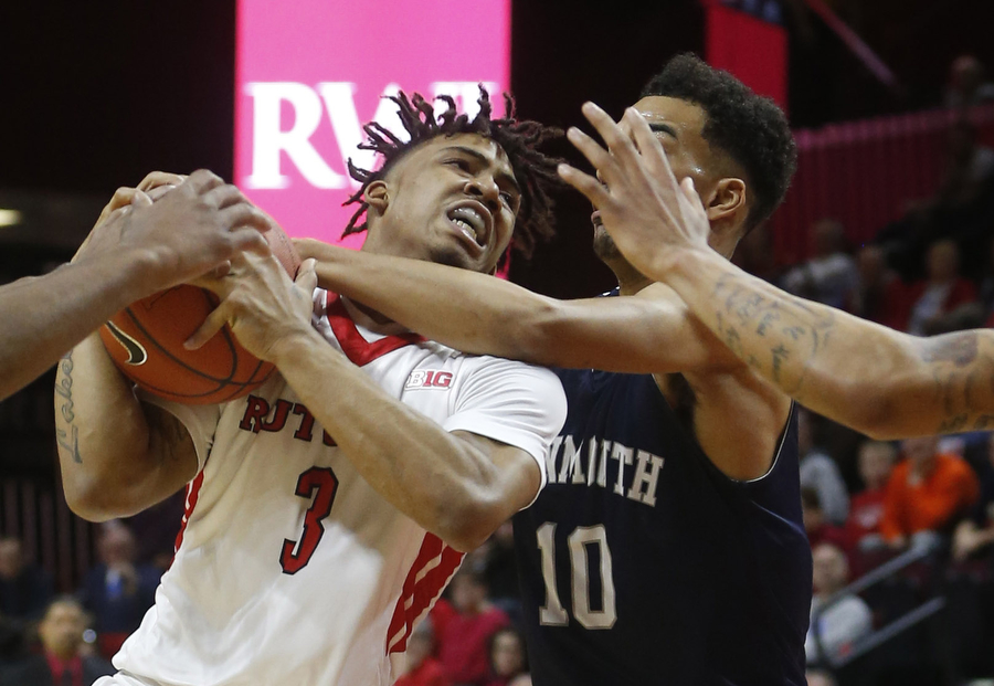 Rutgers versus Monmouth University mens basketball